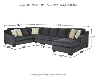 Eltmann 4-Piece Sectional with Chaise