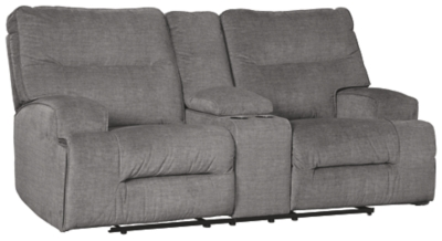 Cyprus Reclining Loveseat with Console