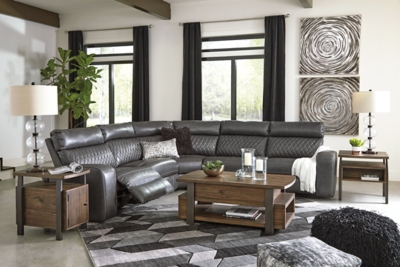 Samperstone 5-Piece Power Reclining Sectional