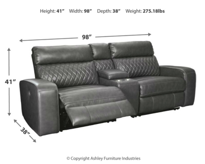 Samperstone 3-Piece Power Reclining Sectional