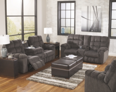 Aurora Reclining Loveseat with Console