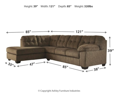 Abbotsford 2-Piece Sleeper Sectional with Chaise