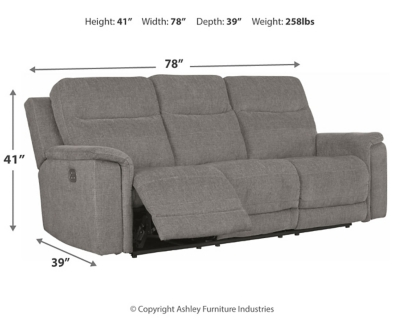 Malak Power Reclining Loveseat with Console