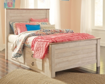 Westley Full Panel Bed with 2 Storage Drawers