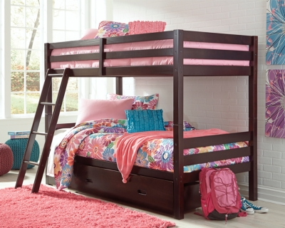 Hardwick Twin over Twin Bunk Bed with 1 Large Storage Drawer