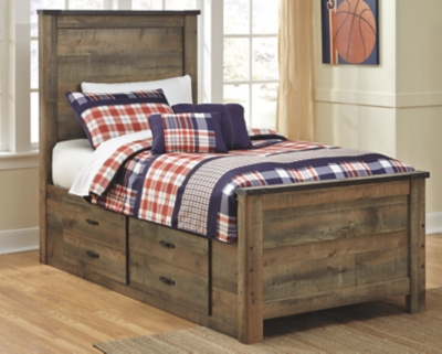 Trenton Twin Panel Bed with 2 Storage Drawers