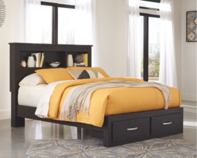 Ramona Queen Bookcase Bed with 2 Storage Drawers