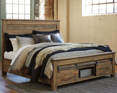 Sanger Queen Panel Bed with Storage