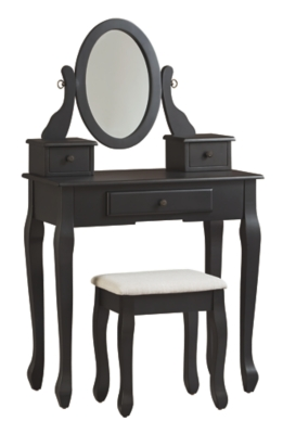 Hanford Vanity and Mirror with Stool