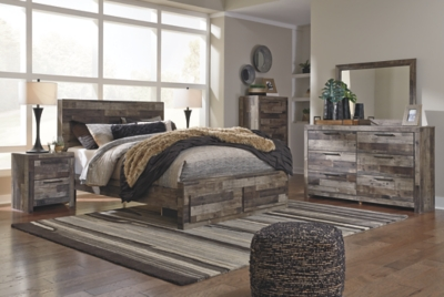 Dover Queen Panel Bed with 2 Storage Drawers