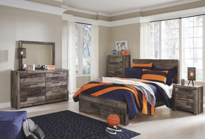 Dover Full Panel Bed with 2 Storage Drawers
