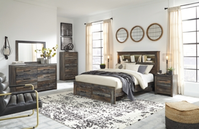 Davis Queen Bookcase Bed with 2 Storage Drawers