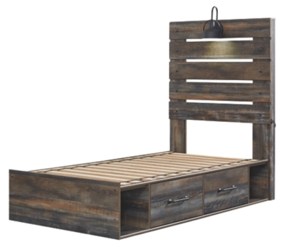Davis Twin Panel Bed with 4 Storage Drawers
