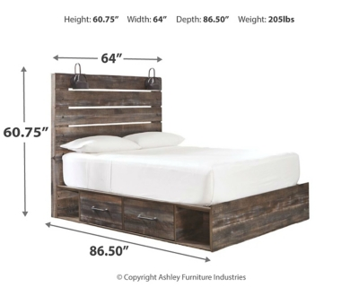 Davis Queen Panel Bed with 2 Storage Drawers
