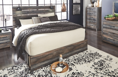 Davis King Panel Bed with 4 Storage Drawers