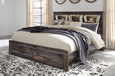 Davis King Bookcase Bed with 2 Storage Drawers