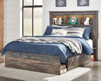 Davis Full Bookcase Bed with 2 Storage Drawers
