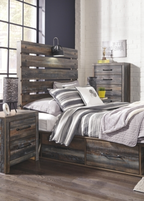 Davis Full Panel Bed with 4 Storage Drawers
