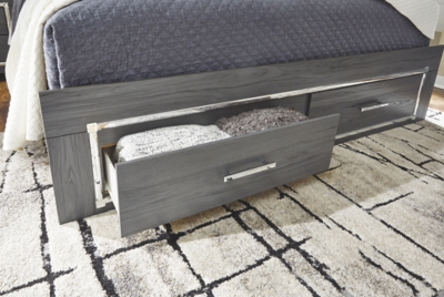 Larkspur Full Panel Bed with 2 Storage Drawers