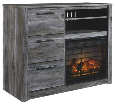 Bixton Media Chest with Electric Fireplace
