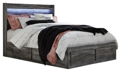 Bixton Queen Panel Bed with 6 Storage Drawers
