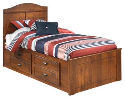 Barner Twin Panel Bed with 4 Storage Drawers