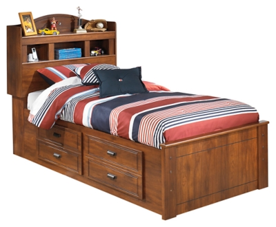 Barner Twin Bookcase Bed with 2 Storage Drawers