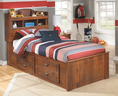 Barner Twin Bookcase Bed with 4 Storage Drawers