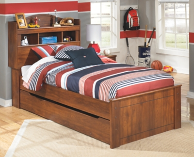Barner Twin Bookcase Bed with Trundle