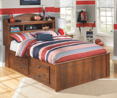 Barner Full Bookcase Bed with 4 Storage Drawers