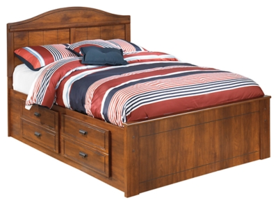 Barner Full Panel Bed with 2 Storage Drawers