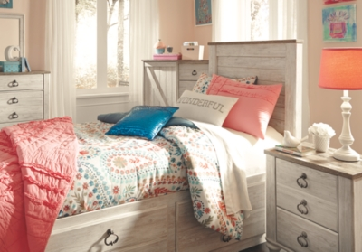 Westley Twin Panel Bed with 2 Storage Drawers