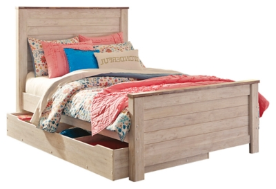 Barner Twin Panel Bed with Trundle