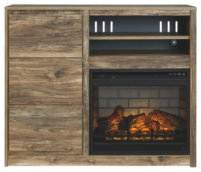 Redcrest Media Chest with Electric Fireplace