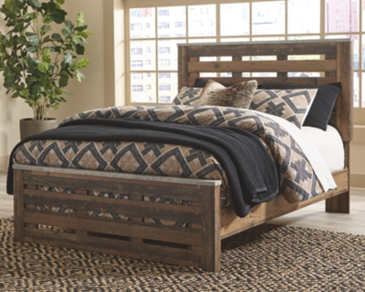 Cane Queen Panel Bed