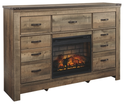Trenton Dresser with Electric Fireplace