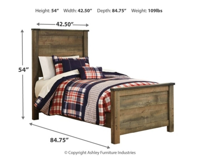 Trenton Twin Panel Bed with Mattress