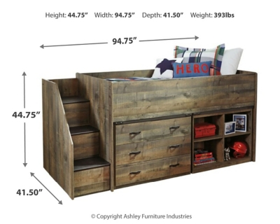 Trenton Twin Loft Bed with 1 Large Storage Drawer