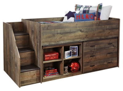 Trenton Twin Bookcase Bed with 1 Large Storage Drawer