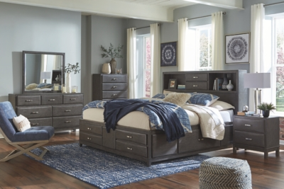 Clara King Storage Bed with 8 Drawers