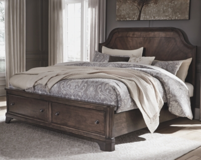 Azra California King Panel Bed with 2 Storage Drawers