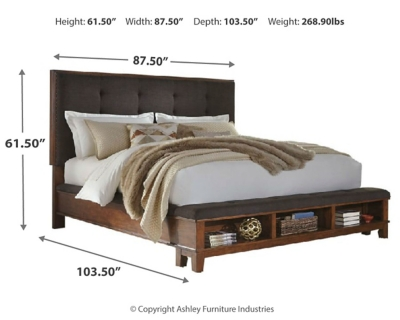 Rackerby California King Upholstered Panel Bed