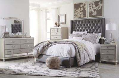 Carina King Upholstered Bed