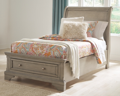 Lanare Twin Sleigh Bed