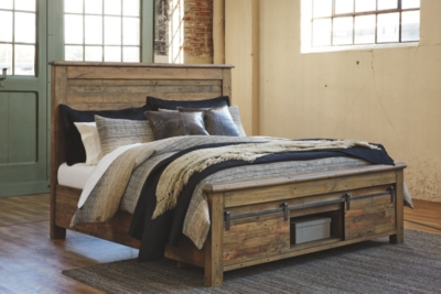 Sanger California King Panel Bed with Storage