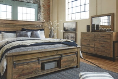 Sanger King Panel Bed with Storage