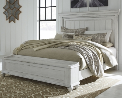 Keene Queen Panel Bed with Storage Bench