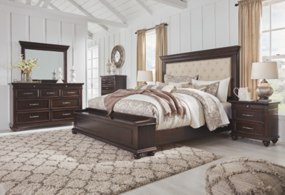 Bisma California King Upholstered Bed with Storage Bench