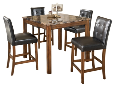 Tecopa Counter Height Dining Room Table and Bar Stools (Set of 5)