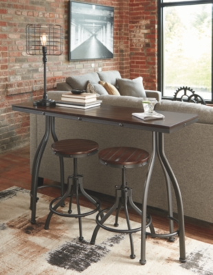 Oakley Counter Height Dining Room Table and Bar Stools (Set of 3)